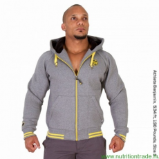 Gorilla Wear PREMIUM HOODED JACKET szürke XXL Gorilla Wear