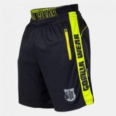 GORILLA WEAR Shelby Shorts - Black/Neon Lime S
