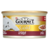 Gourmet Gold teljes értékű állateledel felnőtt macskáknak csirke-máj falatok szószban 85 g
