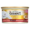 Gourmet Gold teljes értékű állateledel felnőtt macskáknak marhahússal és csirkével 85 g