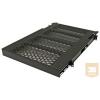 Great Lakes 7206-FRSL-ADHD 660mm mély polc rack szekrénybe, 2U, állítható szerelőfülekkel, csúszkás, fekete (50kg-ig)