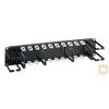 """Great Lakes CM-08 1U gyűrűs kábelrendező 19"""" rack szekrényhez"""