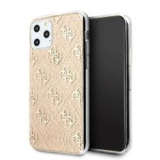 Guess Etui Guess GUHCN65PCU4GLGO iPhone 11 Pro Max arany kemény tok 4G Glitter telefontok tok és táska