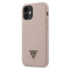 """Guess GUHCP12SLSTMLP 12 mini iPhone 5.4 """"világos rózsaszín / halvány rózsaszín kemény tok Szilikon Triangle Logo telefontok tok és táska"""