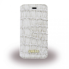 Guess iPhone 6/6S Shiny Croco oldalra nyíló tok, bézs