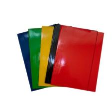 Gumis mappa FORNAX Glossy karton A/4 400 gr,sárga mappa