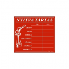 GUNGL DEKOR PIKTOGRAM NYITVA TARTÁS /SZÁMOKKAL/ 7 NAPOS PIROS információs címke