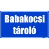 Gungldekor Babakocsi tároló helyiségtábla matrica