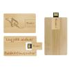 Gungldekor Bambuszmintás bankkártya méretű fa 8GB-os pendrive egyedi gravírozott szöveggel logóval