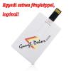 Gungldekor Bankkártya méretű és alakú 16 GB-os pendrive egyedi színes fényképpel logóval