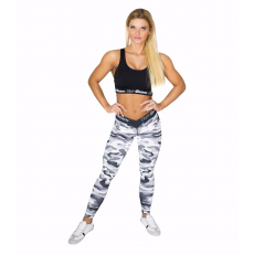 GymBeam Camo White női leggings - GymBeam XL