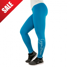 GymBeam Női leggings Vertical Blue White - GymBeam L