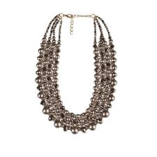 Gyöngy háló nyakék, bronz nyaklánc