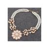 Gyöngysor nyaklánc, arany színű medállal, gyöngyökkel 00030ec