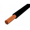 H05V-K 1x0,75 mm2 Fekete PVC szigetelésű sodrott réz Mcs-kh vezeték