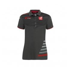 Haas F1 Team női gallĂŠros póló grey 2018 - XS