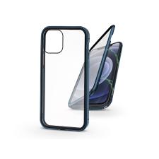Haffner Apple iPhone 12/12 Pro mágneses, 2 részes hátlap előlapi üveggel - Magneto 360 - kék tok és táska