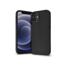 Haffner Apple iPhone 12 Mini szilikon hátlap - Soft Premium - fekete mobiltelefon, tablet alkatrész