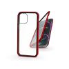 Haffner Apple iPhone 12 Pro Max mágneses, 2 részes hátlap előlapi üveggel - Magneto 360 - piros