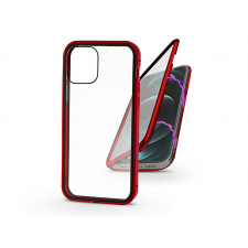 Haffner Apple iPhone 12 Pro Max mágneses, 2 részes hátlap előlapi üveggel - Magneto 360 - piros mobiltelefon kellék