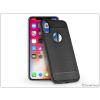 Haffner Apple iPhone X szilikon hátlap - Carbon - fekete