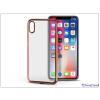 Haffner Apple iPhone X szilikon hátlap - Jelly Electro - rose gold