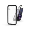 Haffner Apple iPhone XR mágneses, 2 részes hátlap előlapi üveggel - Magneto 360 - fekete