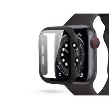 Haffner Apple Watch 4/5/6/SE (40 mm) védőtok beépített edzett üveggel - fekete (ECO csomagolás) tok és táska