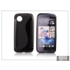 Haffner HTC Desire 700 szilikon hátlap - S-Line - fekete (Dual Slim-hez nem jó)