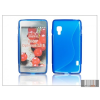Haffner LG E460 Optimus L5 II szilikon hátlap - S-Line - kék