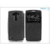 Haffner LG G4 H815 S-View Flexi oldalra nyíló flipes tok - fekete
