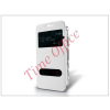 Haffner Samsung SM-G850 Galaxy Alpha S-View flipes tok - fehér