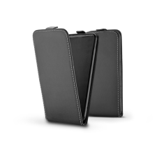 Haffner Slim Flexi Flip bőrtok - Huawei Y6p - fekete tok és táska