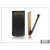 Haffner Slim Flip bőrtok - Samsung i9500 Galaxy S4 - fekete