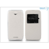 Haffner Sony Xperia E4 (E2104/E2105) S-View Flexi oldalra nyíló flipes tok - fehér