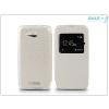 Haffner Sony Xperia E4G (E2003) S-View Flexi oldalra nyíló flipes tok - fehér