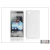 Haffner Sony Xperia J (ST26i) szilikon hátlap - S-Line - fehér
