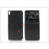 Haffner Sony Xperia Z5 S-View Flexi oldalra nyíló flipes tok - fekete