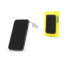 Haffner Univerzális hordozható, asztali akkumulátor töltő - Silk USB 2.1A Power Bank - 10.000 mAh - black power bank