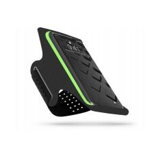 Haffner Univerzális kartok sportoláshoz, max. 6,5&quot, méretű készülékekhez - Universal Sport Armband - fekete/zöld (ECO csomagolás) tok és táska