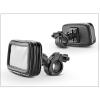 Haffner Univerzális kerékpárra/motorkerékpárra szerelhető, por- és cseppálló telefontartó - XL méret - fekete