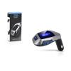 Haffner X5 FM-transmitter - Bluetooth + USB + memóriakártya olvasó - fekete/ezüst