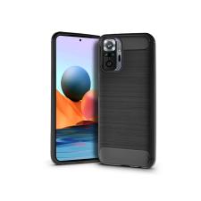 Haffner Xiaomi Redmi Note 10 Pro szilikon hátlap - Carbon - fekete tok és táska