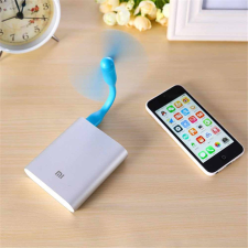 Hajlítható, USB-s mini ventilátor, fekete ventilátor