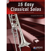 HAL LEONARD 15 Easy Classical Solos Trombone and Piano