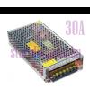 Hálózati LED tápegység, 360W, 30A, 12V, LED trafó, LED adapter, fém ház