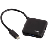 Hama 135750 BUSPOW. 4 portos fekete USB 3.1 Type-C USB 3.0 HUB
