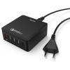 Hama Hálózati töltő állomás USB és TYPE-C - 5 PORT - QC 3.0 - 8A