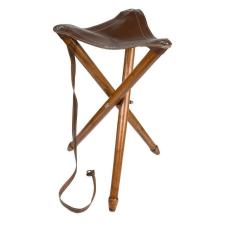 Háromlábú bőr szék horgászkiegészítő