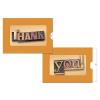 HARTUNG Képeslap, zippes, Thank (betűk)
